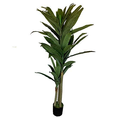Wellhome Planta Tronco de Brasil Artificial de 190 cm de Altura con Maceta