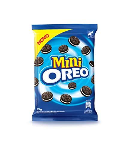 Mini Biscoito Chocolate Recheio Baunilha Oreo Pacote 35g