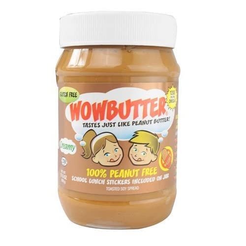 WowButter Tastes Just Like Peanut Butter Toasted Soy Spread Creamy -- 17.6 oz - 2 pc