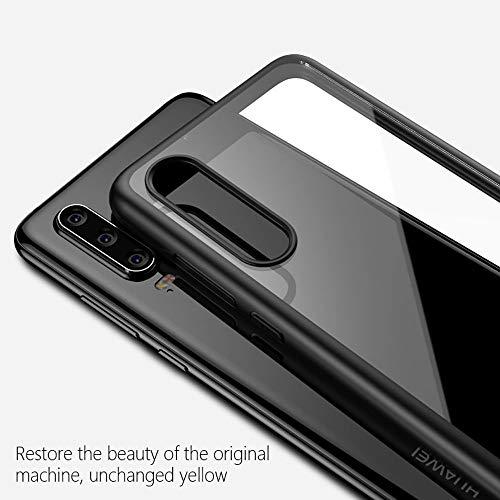 Joyguard Huawei P30 Hülle [Premium TPU + PC] [Hybrid Transparent] [Shock Proof] [Anti-Kratzer] [Ultra Slim] Huawei P30 Hülle Transparent – Schwarz - 3