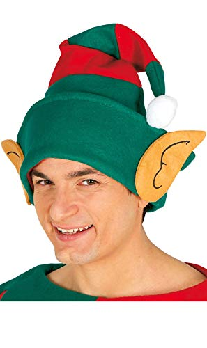 cappello elfo con le orecchie e strisce