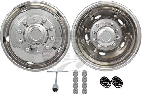 """A+ 19.5""""Stainless Steel Wheel Simulator Dually Rim Liner Skin for Ford 450 550 05~17"""