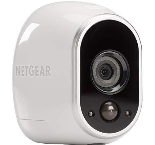 Arlo HD Überwachungskamera & Alarmanlage, Zusatzkamera, Smart Home, kabellos, Innen/Außen, Nachtsicht, WLAN, wetterfest, Bewegungsmelder, VMC3030, weiß