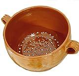 sicilia bedda - Couscoussiera Trapanese in Terracotta - Prodotto 100% Artigianale Come da Tradizione Trapanese (Diametro 25 Centimetri)