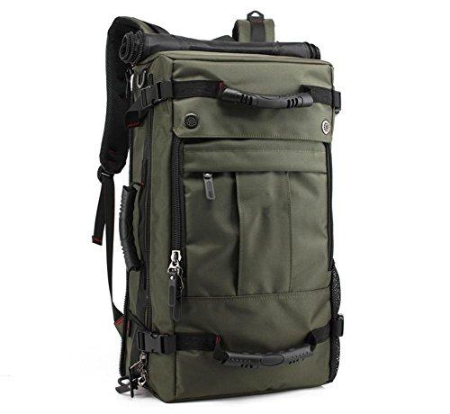 Outdoor grand voyage sac bandoulière sac sac d'étudiant avec verrouillage étanche sac à dos de voyage camping randonnée , in the coffee color increase