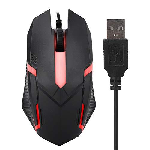Tangxi Kabelgebundene USB-Gaming-Maus, Ergonomischer optischer PC-Computer Kabelgebundene 1600DPI Hintergrundbeleuchtung,USB-Schnittstelle,Desktop-Laptop-PC-Gaming-Maus