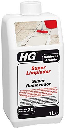 HG Limpiador Superpotente de Azulejos, Losas y Suelos de Piedra, Elimina con Facilidad la Grasa y la Suciedad (1 litro) - 435100106