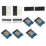 linjunddd Junta De Desarrollo Esp8266 Internet Inalámbrico Mini Escudo D1 Portátil para La Programación De Suministros Industriales 5pcs