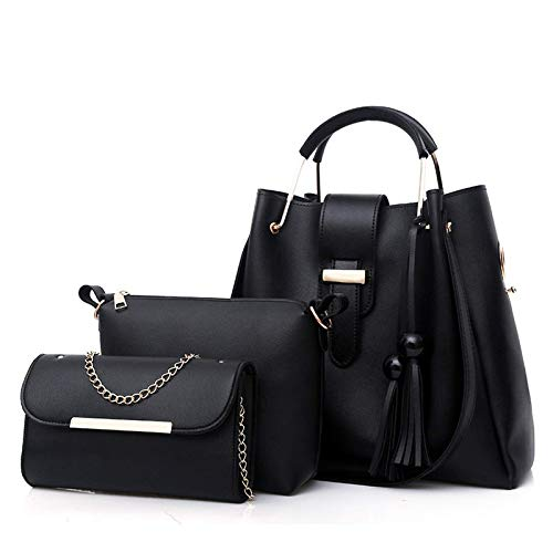 2020 nuevo bolso de moda para mujer 2020 primavera nuevo bolso de mujer PU embrague tendencia retro bolso de todo fósforo (1 bolso, 1 mochila, 1 bolso de cadena)