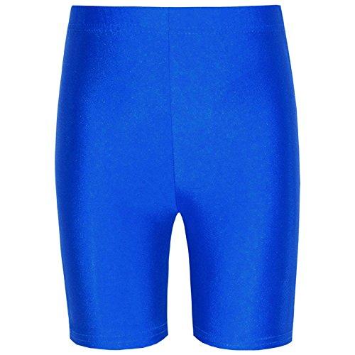 Clossy London Damen Radlerhose Lycra Leggings Mädchen Active Casual Sport Königsblau