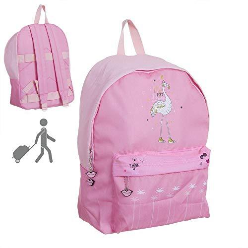 DCASA Mochila Escolar Pink Dream Mochila Tipo Casual, 40 cm, 22 litros, Multicolor