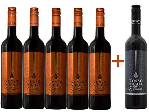 5 + 1 Aktion: 5x Rosso Nobile al Cioccolata und 1x Rosso Nobile all' Espresso GRATIS (6 x 0,75L)