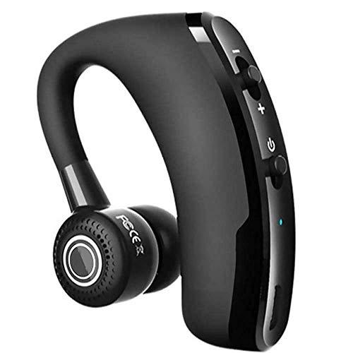 Bluetooth Headset 4.1 für Handy - happyset - zum Telefonieren mit Mikrofon iPhone 11 8 xs x 6s 7 Plus 8 Samsung Galaxy S8 S9 S10 Huawei P20 P30 Windows Auto Büro KFZ universal 2 Handys Geräte einohr