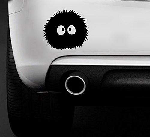 MR WHEEL TRIMS Spirited Away Ghibli Laputa JDM Anime Totoro Polvere a Forma di Coniglietto-Adesivo per Auto, per Auto, Barca, Vinile, Decalcomania