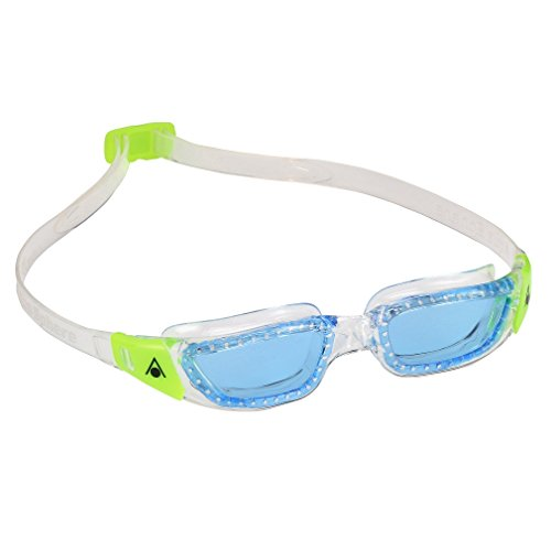Aqua Sphere Kinder Kameleon Blue Lens Schwimmbrille, Blaue Linse/klar/Limette, Einheitsgröße