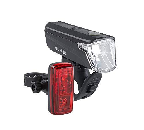 Büchel BL 300 LED-Batterieleuchtenset, StVZO zugelassen, 30/15 Lux, schwarz, 5124509