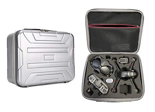 Fututech - Funda de transporte rígida para DJI FPV, bolsa de almacenamiento portátil, funda de protección para Dron/mando a distancia, color plateado