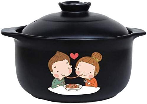 Wghz Casserole, marmite à ragoût, marmite à Soupe, cocotte en Argile, cocotte en céramique, cocotte en Fonte, Couvercle de cocotte, cocotte, Pot en céramique-4000 ML