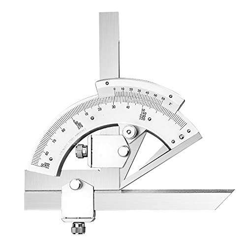NEHARO Transportador de Metal Semicírculo Regla 0-320 ángulo Transportador de...