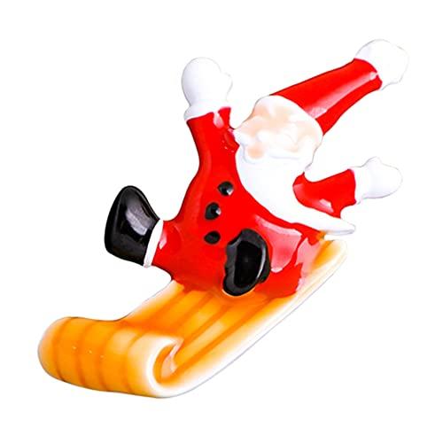 Holibanna Broche de Navidad Alfileres de Aleación de Navidad Broche de Suéter de Dibujos Animados de Papá Noel Broche de Joyería de Vacaciones Decoración para Adornos Festivos de Fiesta