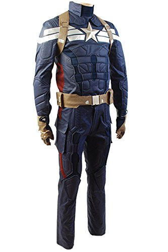 Gogam Captain America 2 The Winter Soldier Steve Rogers Uniform Outfit Cosplay Kostüm XL Herren