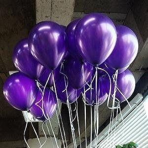 Lokman 12 Inch Ultra Thickness Purple Balloons, Holiday Party Balloons for Birthday, Baby Shower, Wedding, Halloween, Christmas, New Year Party Decoration,100 Piece (Purple)