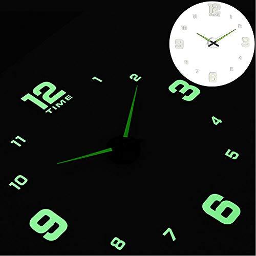 XMBT Reloj de Pared clásico de electrodomésticos Premier,Reloj de Cocina silencioso Movimiento analógico de Cuarzo con Pilas Despertador Luminoso Mudo con Pantalla Digital Reloj Decorativo