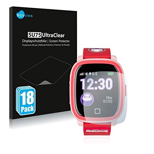 Savvies 18x Schutzfolie kompatibel mit SoyMomo H20 Displayschutz-Folie Ultra-transparent