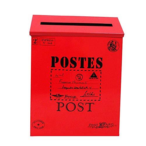 dianhai306 Cassetta Postale antiruggine Cassetta Postale Metallo può Essere bloccata Cassetta Postale di Ferro...