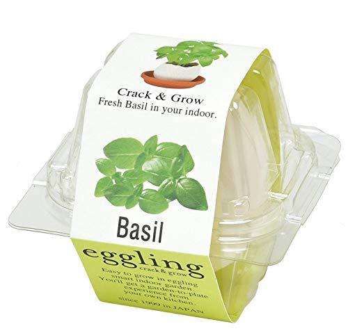 エッグリング クリアパッケージ 自宅で気軽に栽培 キッチンやリビングに (バジル)