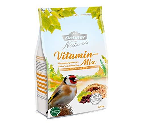Dehner Premium Natura Wild pájaro Forro, Vitamina de Mezclar, schalenfrei, 2.4kg