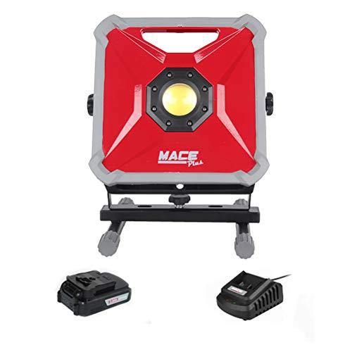 Foco LED Reflector Portátil 50W, Foco de Obra Recargable 2 modos de luz con Soporte,1500 lm Blanco Frío, (batería 21V), Luz de Trabajo de Noche para Camping Garaje