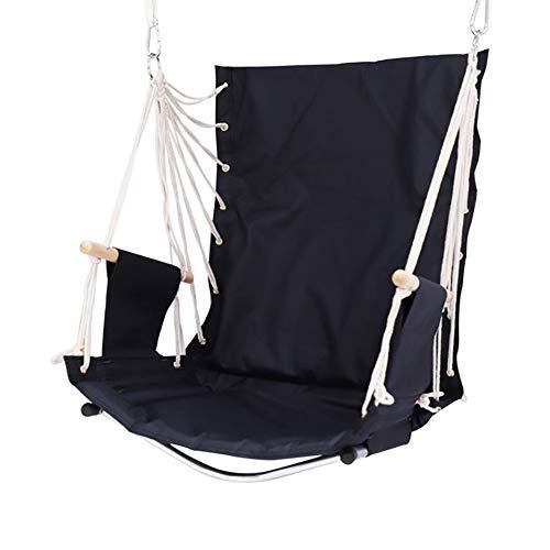 Balançoires YXX Chaise pivotante Suspendue avec accoudoir en Bois, Grande capacité du siège 120kg de Chaise de hamac pour l'intérieur extérieur (Size : Set of 1)
