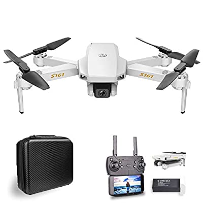 Goolsky Mini RC Drones with Camera 4K for Adults Altitude Hold Follow Me Gesture Photos Video Track Flight RC Quadcopter with Storage Bag S161