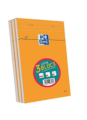 Oxford Lot de 3 Blocs 160 pages A5 Orange