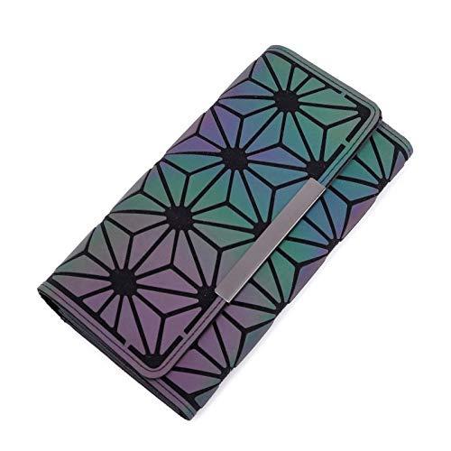 T-ara El Nuevo Dinero Clip Femenino Trifold Wallet Slim Fligsy Women Monederos Fasheeing Clutch Billets Monedero Imprescindible para el Senderismo (Color : Blue2, Size : A)