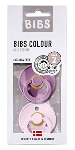 BIBS fopspeen Lavender-Baby Pink, maat MT2-6-8 maanden