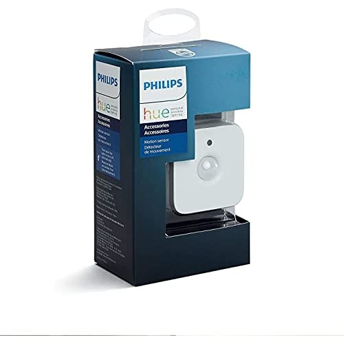 Philips Lighting Hue Sensore di Movimento per Accensione e Spegnimento Lampadine, Batterie Incluse, Bianco, 5.5 x 5.5 x 5.5 cm