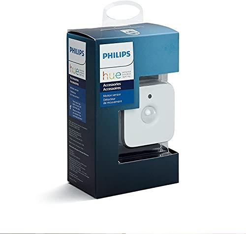 Philips Hue - Sensor de movimiento controlable vía WiFi, compatible con Amazon Alexa, Apple HomeKit y Google Assistant, Blanco