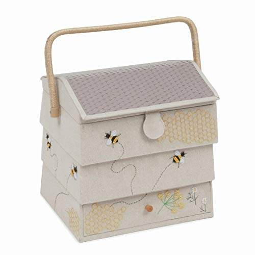 HobbyGift - Bee Hive Sewing Box with Draw - Premium Novelty Collection -...