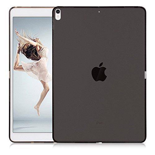 Lobwerk TPU Hülle für Apple iPad 2017/2018 9.7 Zoll Cover Gummihülle Flexibles Silikoncase (Schwarz) + Gratis Stylus Touch Pen