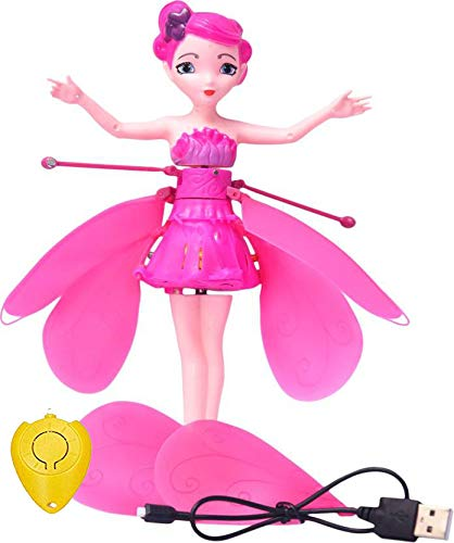 Flying Fairy Doll Infrared Induction Control RC Helicopter Kids Toys Teen Toys Ballet Girl Flying Princess Doll (Flying Fairy)