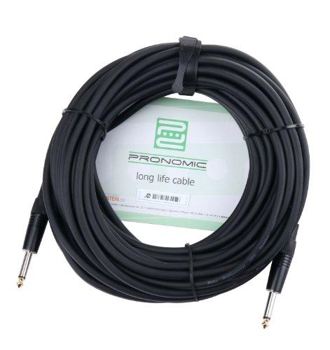 Pronomic BOXJ-10 Lautsprecherkabel DJ PA Boxenkabel (Professionelles Boxenkabel, 6,3 mm Klinke, Länge 10m, säure- und ölfest, Spannzangen-Zugentlastung)