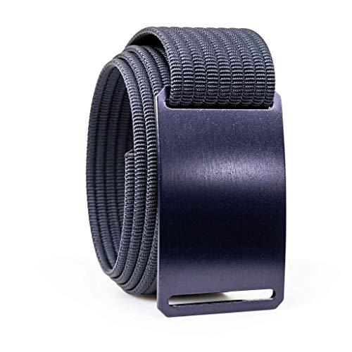 38 Inch Blue Steel Casual Web Belts For Men | Blue Buckle w/Navy Strap