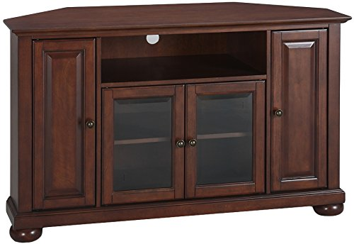 Crosley Furniture Alexandria 48-inch Corner TV Stand - Vintage Mahogany