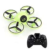 HLONGG Mini Drones, Aviones De Control Remoto para Niños, Luces De Control Remoto Y Quadcoplas De Noche, Drones De Larga Distancia Y Adultos para Niños,Verde