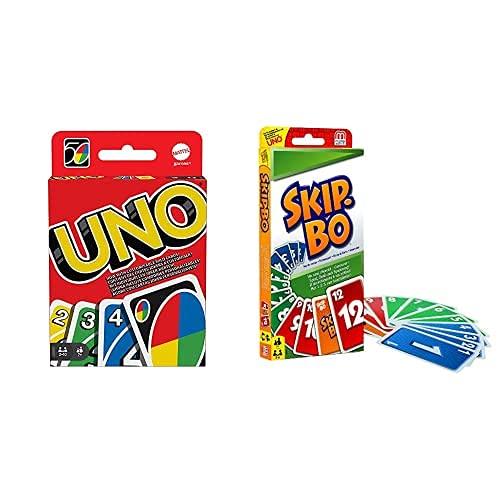 Mattel Games Uno Classic (W2087) y Skip-Bo (52370)