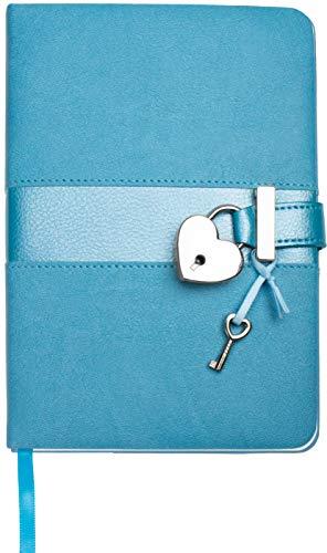 Trötsch Tagebuch Matt & Shiny Blau: mit Schloss und Schlüssel
