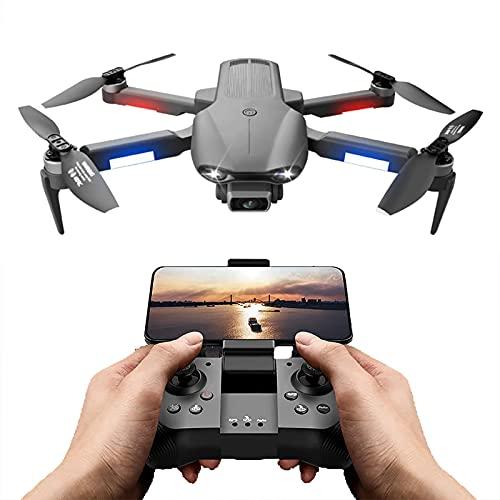GZTYLQQ Drone con cámara HD de 6K 30 Minutos Mini Drones para Adultos 3KM GPS Fotografía aérea Profesional Drone Motor sin escobillas Plegable RC Quadcopter, 3 baterías
