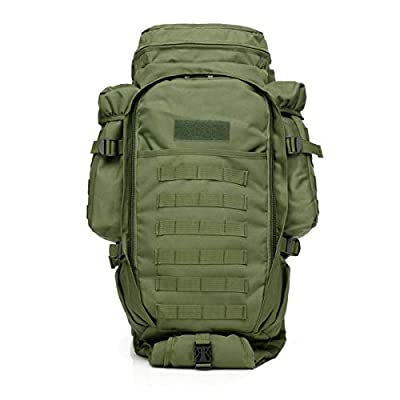 GEARDO 65L Military Tactical Backpack Rifle Gun Case Bag Airsoft Bag with Waist Belt (Green)